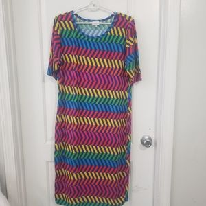 3/$25 Lularoe multi-color dress sz xxl